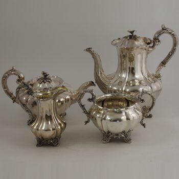 Victorian Silver Tea Coffee Service R 718